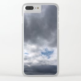 Dove in Clouds Clear iPhone Case