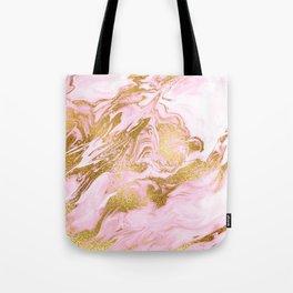Rose Gold Mermaid Marble Tote Bag