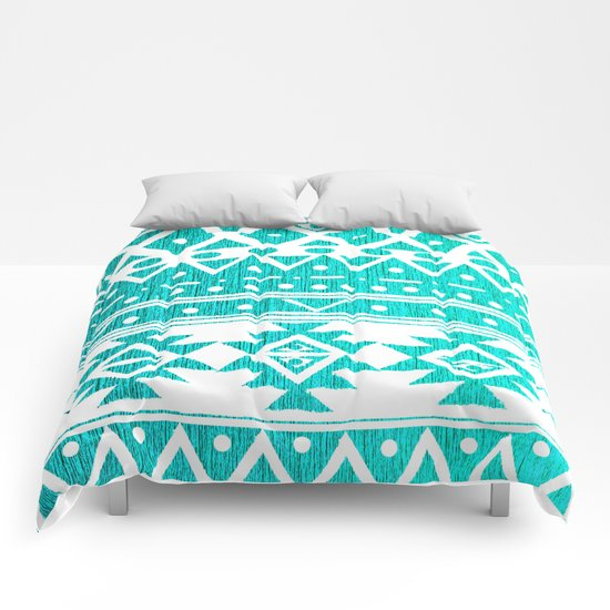 AQUAMARINE TRIBAL  Comforters