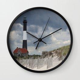 Fire Island Light From The Beach Wall Clock