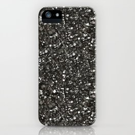 Gray Hematite Close-Up Crystal iPhone Case