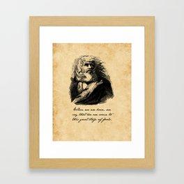 King Lear - William Shakespeare Framed Art Print