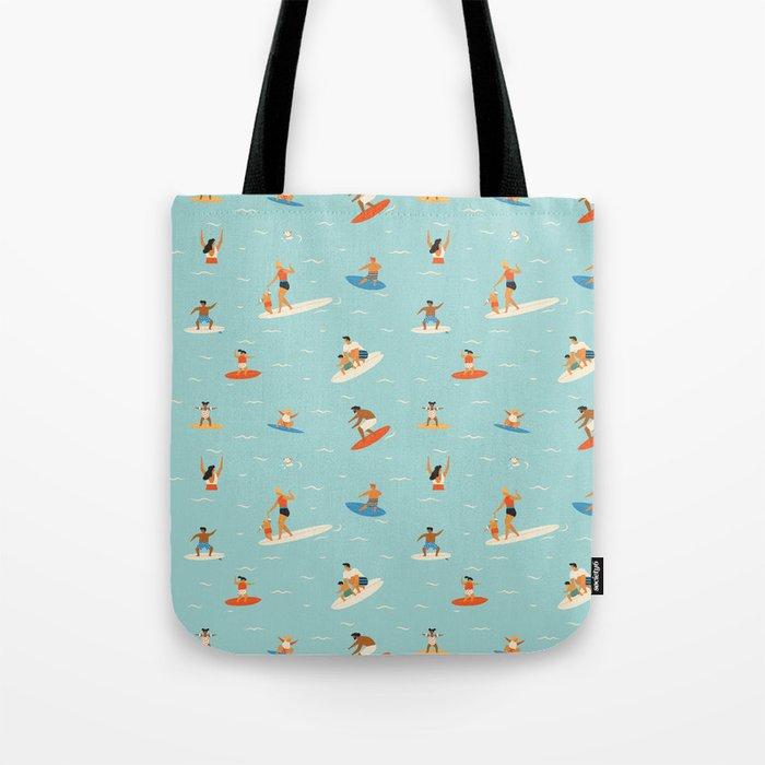 Surfing kids Tote Bag