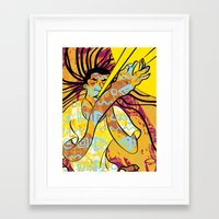 jazz Framed Art Prints featuring Jazz by Sanfeliu