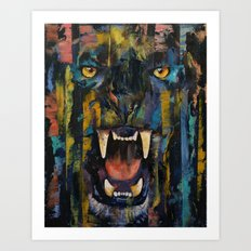 Black Panther Art Print
