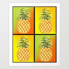 Tiled Pineapple Art Print