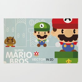 mario bros 2 fan art Rug