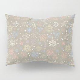 Christmas Snowflakes Lace Pillow Sham