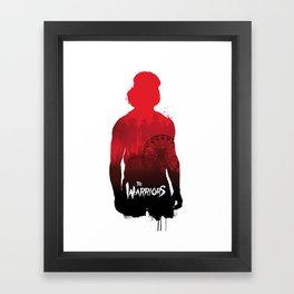 The Warriors Swan silhouette Framed Art Print