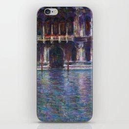 Palazzo Contarini by Claude Monet iPhone Skin