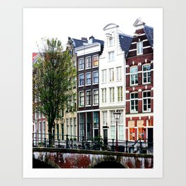 Amsterdam Canalhouses in Spring Art Print