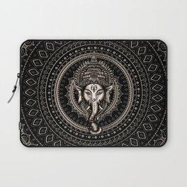 Lord Ganesha - Sepia Black Laptop Sleeve