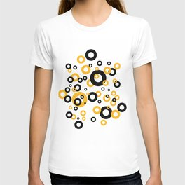 Rings Design orange and black - white II T-shirt