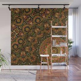 Kashmir Embroidery Look Mandala  Wall Mural