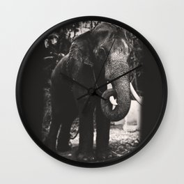 Elephant Love Wall Clock