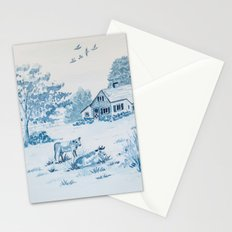 Farmhouse Toile Stationery Cards