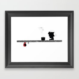Little Red grandmother Framed Art Print