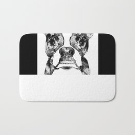 Black And White Terrier Dog Art Sharon Cummings Bath Mat