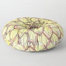 Yellow Flower Love Floor Pillow