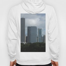 Chicago Skyline, Cloudy Day in Chicago Hoody