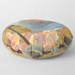 Portofino Italian Riviera Travel Floor Pillow
