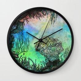 Seahorse Gardens Wall Clock