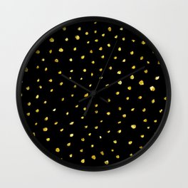 Brushed Gold Dots Wall Clock