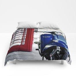 Classic Blue Vespa Comforters