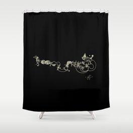 Deep pleasure Shower Curtain