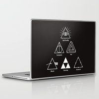 triangle Laptop & iPad Skins featuring Triangle by le.duc