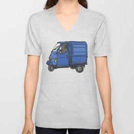 Tricycle Van Threewheeler Transporter Unisex V-Neck