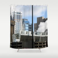 power Shower Curtains featuring Power by Andrew C. Kurcan