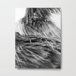 Kuker Performer Black and White Portrait Photography I Metal Print