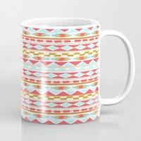 navajo Mugs featuring NAVAJO PATTERN by Nika