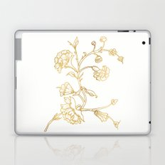 Golden flower on white background . artwork . Laptop & iPad Skin