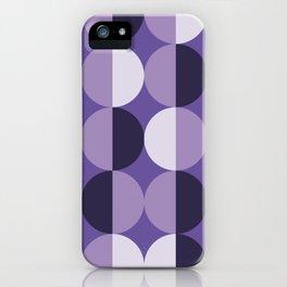 Retro circles grid purple iPhone Case