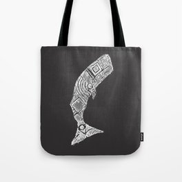 The Great White Whale Sketch Tote Bag