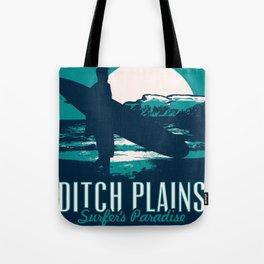 montauk ditch plains vintage surf poster Tote Bag