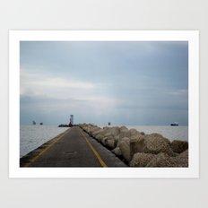 stone pier. Art Print