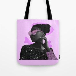 Rock Star Glitter Collage Tote Bag