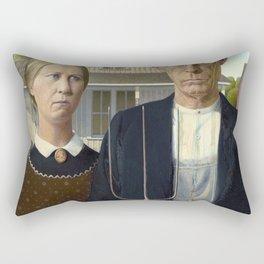 American Gothic Painting Rectangular Pillow