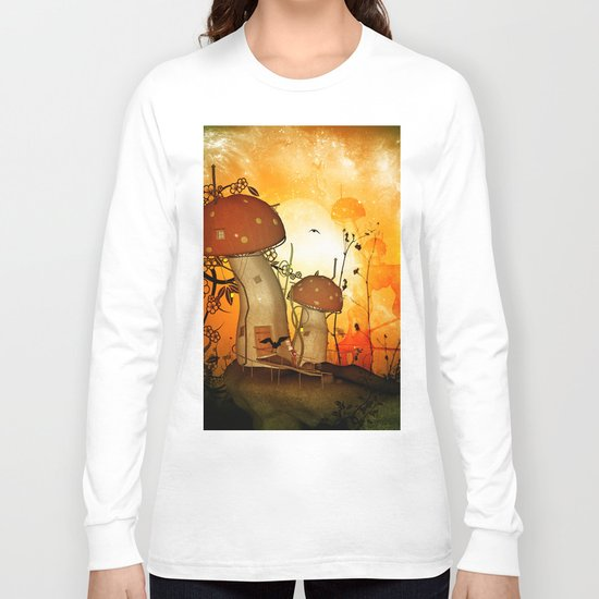The fairy house in the night Long Sleeve T-shirt