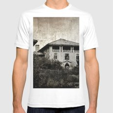 Plymouth County Hospital Front facade White MEDIUM Mens Fitted Tee
