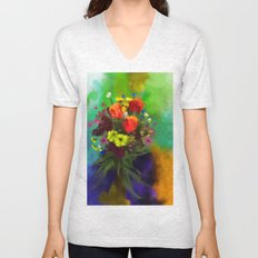 Abstract bouquete Unisex V-Neck