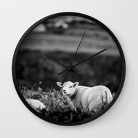 lamb Wall Clocks featuring Lamb by BethWold