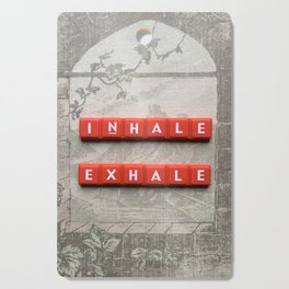 Inhale and Exhale Scrabble Tiles Cutting Board