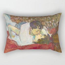 "Henri de Toulouse-Lautrec ""In Bed. The Kiss"" Rectangular Pillow"