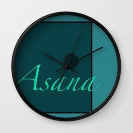 Asana Blue Wall Clock