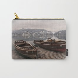 Rowing Boats At The Lake Bled Carry-All Pouch