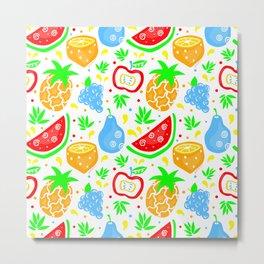 Fiesta de las Frutas Metal Print